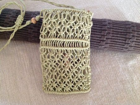 Macrame cell phone case necklace by Jean BH  - featured on Jewelry Making Journal