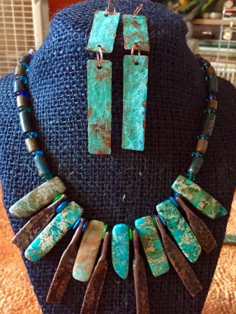 Copper and Ocean Jasper Statement Necklace by Diana Stiles  - featured on Jewelry Making Journal