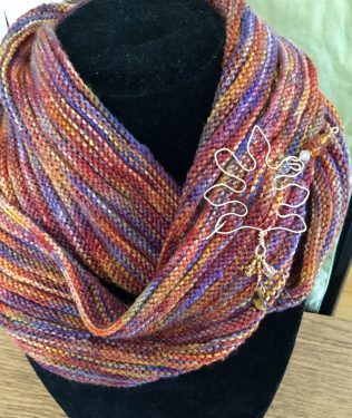 Fall Season Shawl Pin