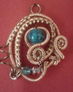 Maria's Wire-Woven Pendant