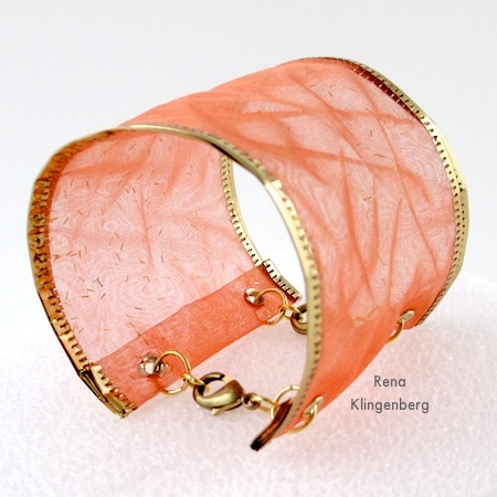 Wired Ribbon Bracelets - Tutorial by Rena Klingenberg