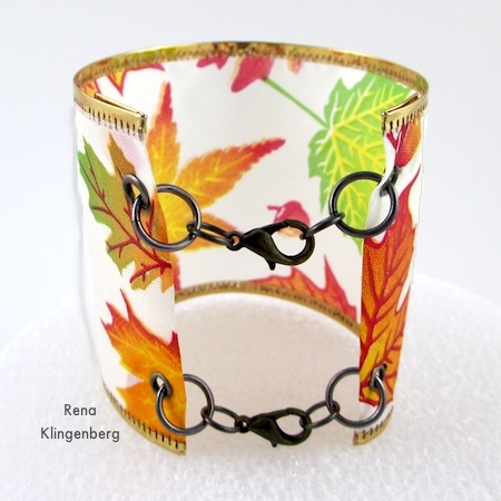 Wired Ribbon Bracelets - Tutorial by Rena Klingenberg