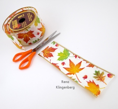 Cutting ribbon for Wired Ribbon Bracelets - Tutorial by Rena Klingenberg