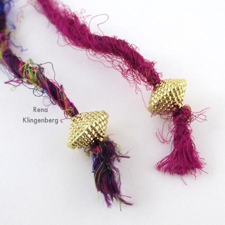 Extremidades de cordão acabadas para colar gargantilha Wrap - Tutorial de Rena Klingenberg