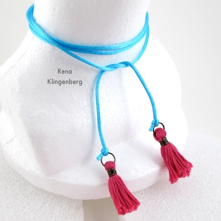 Wrap Choker Necklace - Tutorial by Rena Klingenberg