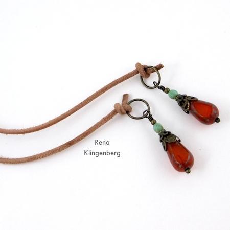 Extremidades de cordão com miçangas para colar gargantilha Wrap - Tutorial de Rena Klingenberg