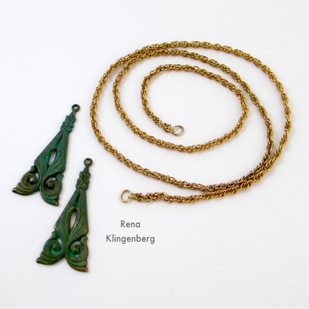 Components for Wrap Choker Necklace - Tutorial by Rena Klingenberg