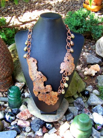 Peaceful Warrior Necklace by Janet Vacanti  - featured on Jewelry Making Journal