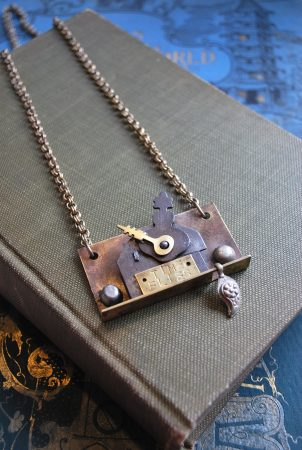 Tick Toc Assemblage Necklace by Janet Vacanti  - featured on Jewelry Making Journal