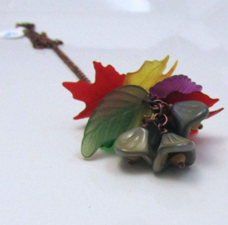 Vermont Autumn - Lucite Leaf Jewelry by Dianne Culbertson-Jacques  - featured on Jewelry Making Journal