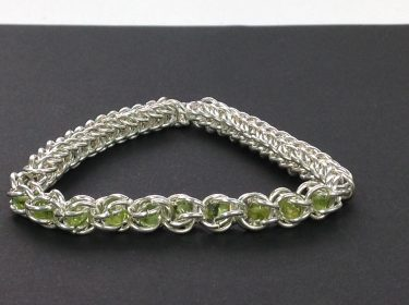 Emerald Bracelet with Chainmaille