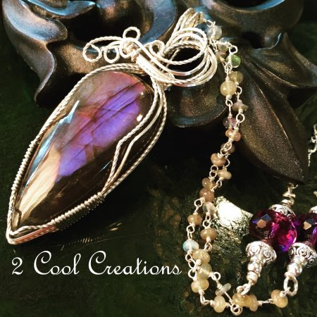 Purple Labradorite Necklace by Tina Murphy  - featured on Jewelry Making Journal