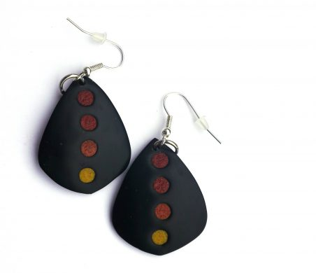 Polymer Clay Autumn Earrings by Patti Underwood  - featured on Jewelry Making Journal