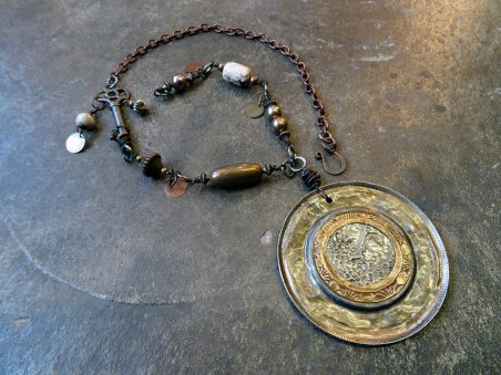Uncanny Cans Pendant by Janet Vacanti  - featured on Jewelry Making Journal
