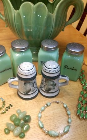 Grandma's Green Beads, Remade by Catherine  - featured on Jewelry Making Journal