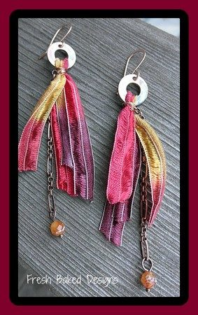 Earring remake, by Lynda Carson  - featured on Jewelry Making Journal