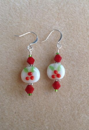 Lampwork and Crystal Earrings by Dawn  - featured on Jewelry Making Journal