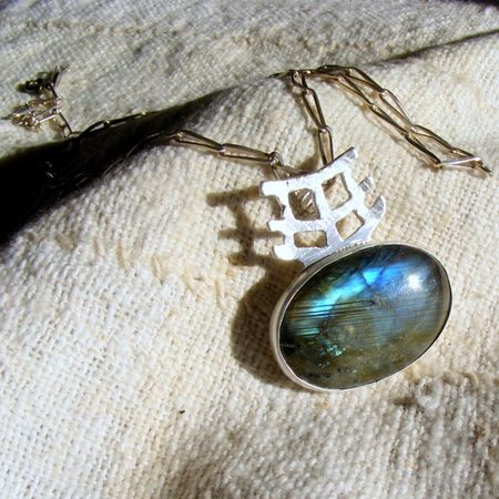 Temple Labradorite Pendant by Barbara Jacquin  - featured on Jewelry Making Journal