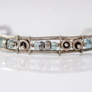 Aquamarine Cuff Bracelet Inspired by the Sea