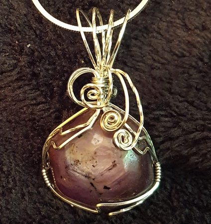 Beautiful Mauve Star Sapphire Wire Wrapped in Sterling Silver by RebeccaJane Morgan  - featured on Jewelry Making Journal