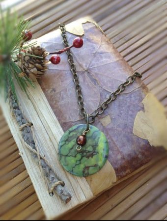 Necklace by Lisa Winters-Baldwin  - featured on Jewelry Making Journal