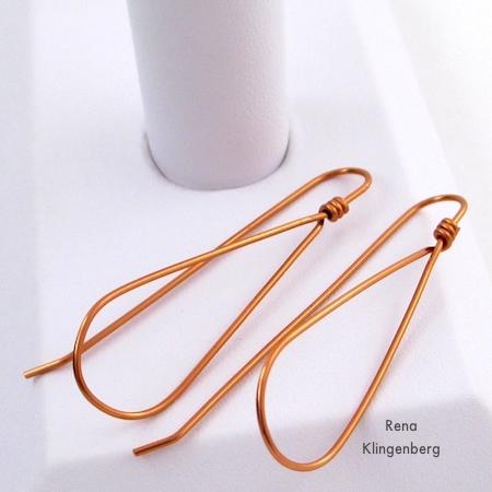 Wire Teardrop Hoop Earrings (Tutorial)