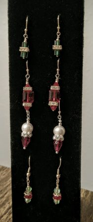 Christmas Earrings by Chris Rehkop  - featured on Jewelry Making Journal