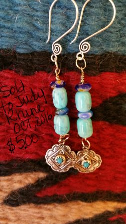 Chunky Western earrings by Pam McGuire  - featured on Jewelry Making Journal