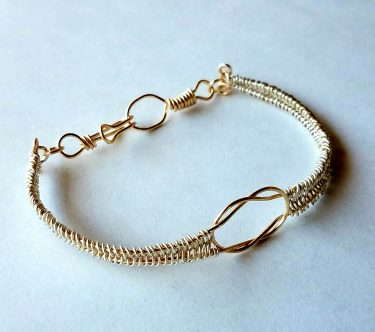 Mixed Metal Celtic Knot Bracelet