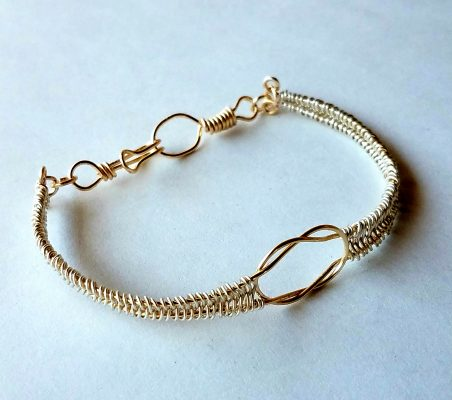 Mixed Metal Celtic Knot Bracelet by Cali Adams  - featured on Jewelry Making Journal