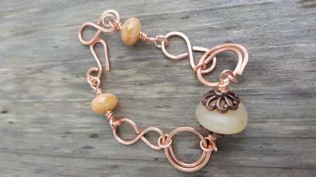 Beach Stone Bracelet by Tami Pettersen  - featured on Jewelry Making Journal