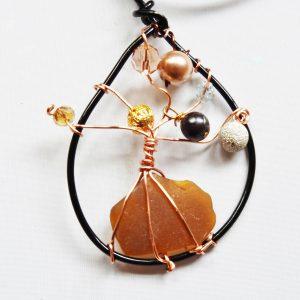 Sea Glass Tree of Life Pendant / Ornament