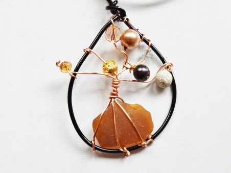 Sea Glass Tree of Life Pendant / Ornament by Jean Forman  - featured on Jewelry Making Journal