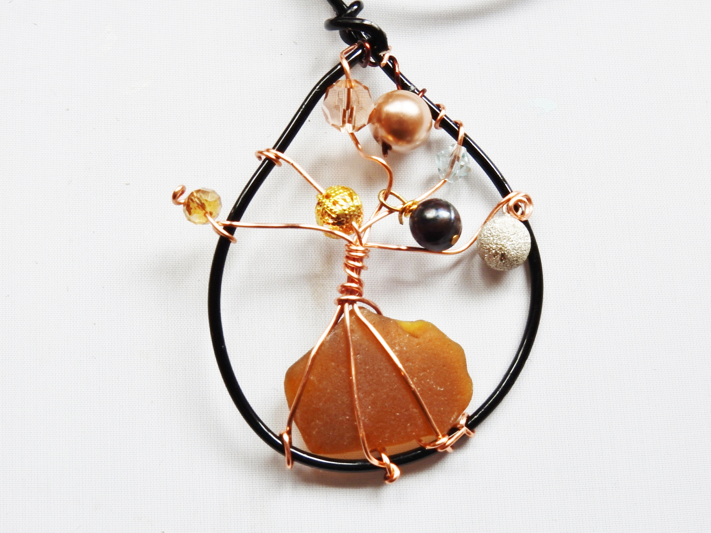 Sea Glass Tree of Life Pendant / Ornament