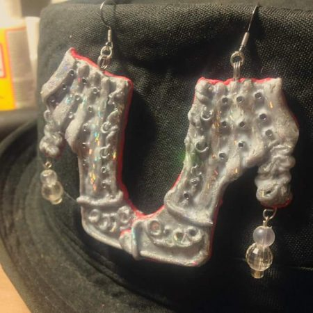 """SherRings"" Shoe Earrings by Sherine Steele  - featured on Jewelry Making Journal"