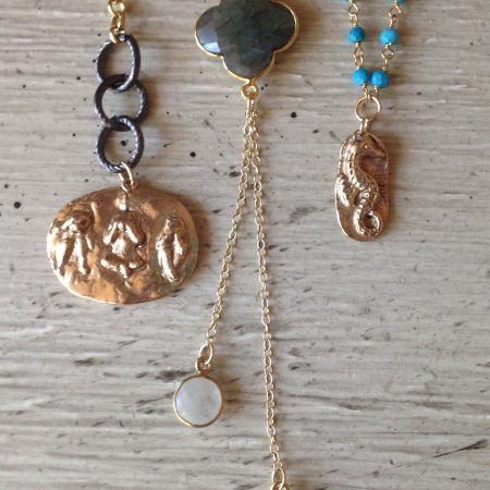 Bronze Clay Pieces by Kellie Rode  - featured on Jewelry Making Journal