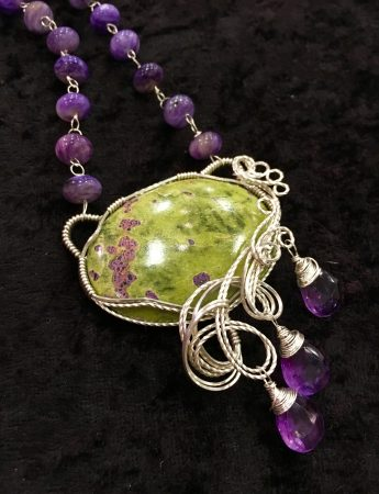 Atlantisite Necklace by Tina Murphy  - featured on Jewelry Making Journal