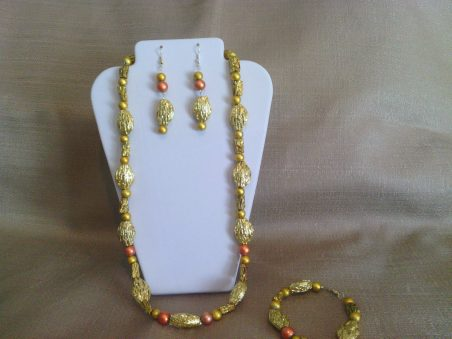 Midas Touch Jewelry Set by Patricia Whitelow  - featured on Jewelry Making Journal