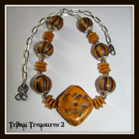 Morocco Necklace by Dennise Larson  - featured on Jewelry Making Journal