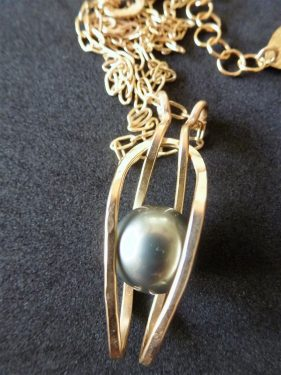 From Disaster to Dynamic Tahitian Pearl Pendant