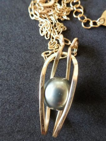 From Disaster to Dynamic Tahitian Pearl Pendant by Dana C. Smith  - featured on Jewelry Making Journal