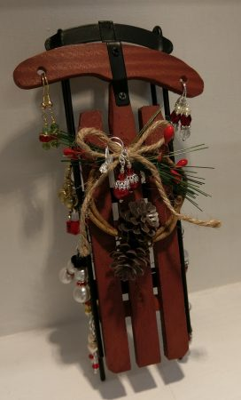 Christmas Sled Jewelry Display by Chris Rehkop  - featured on Jewelry Making Journal