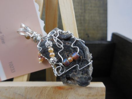 Wire Wrappin Crystal Mineral Pendant, by Lisa D Wiseman  - featured on Jewelry Making Journal