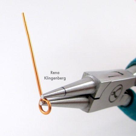 Making loop for Bead and Wire Bracelet - Tutorial by Rena Klingenberg