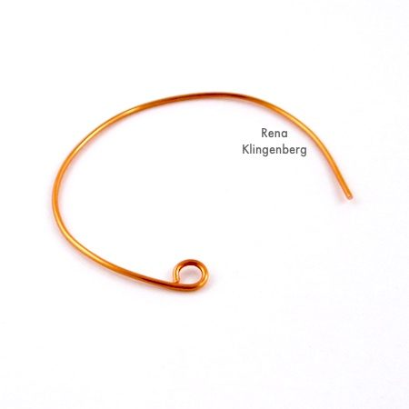 Shaping wire for Bead and Wire Bracelet - Tutorial by Rena Klingenberg