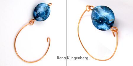 Fastening Bead and Wire Bracelet - Tutorial by Rena Klingenberg