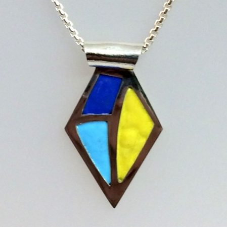 Making a Fine Silver and Enamel Pendant by Glenda  - featured on Jewelry Making Journal