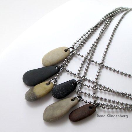 Hacer collares de piedra para la playa – Idea de regalo para chicos y chicas