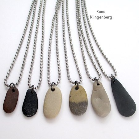 Make beach stone necklaces gift idea for guys and gals for How to make rock jewelry