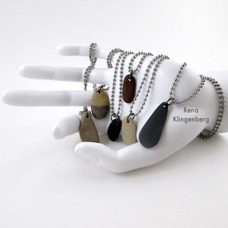 Make Beach Stone Necklaces - Tutorial por Rena Klingenberg